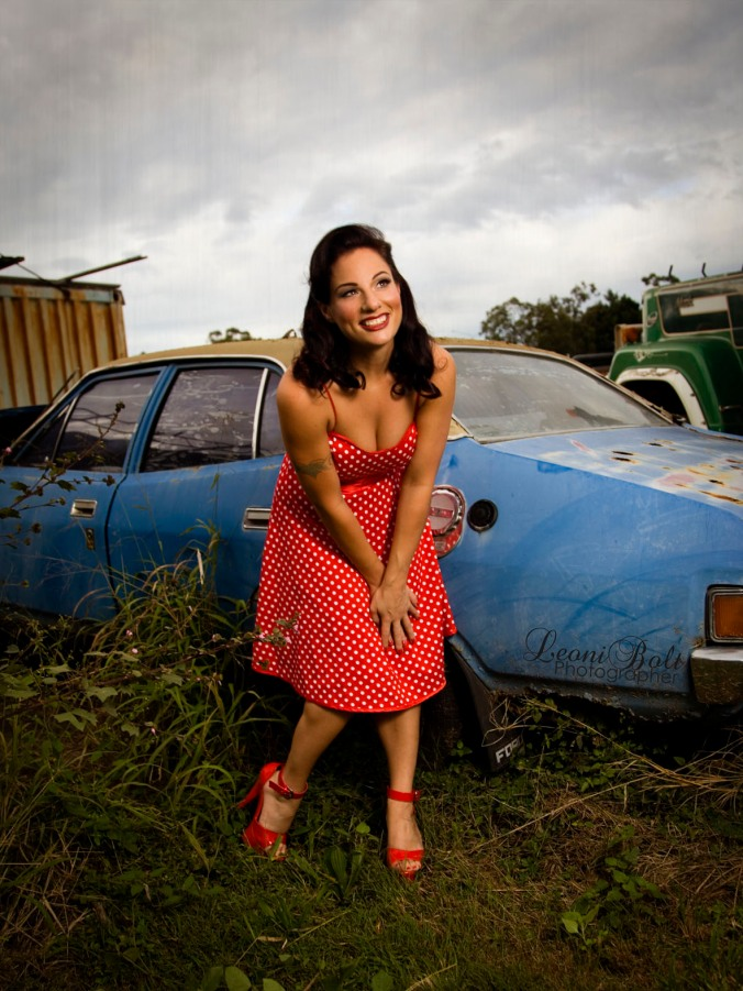 Location pin up photo shoot in QLD