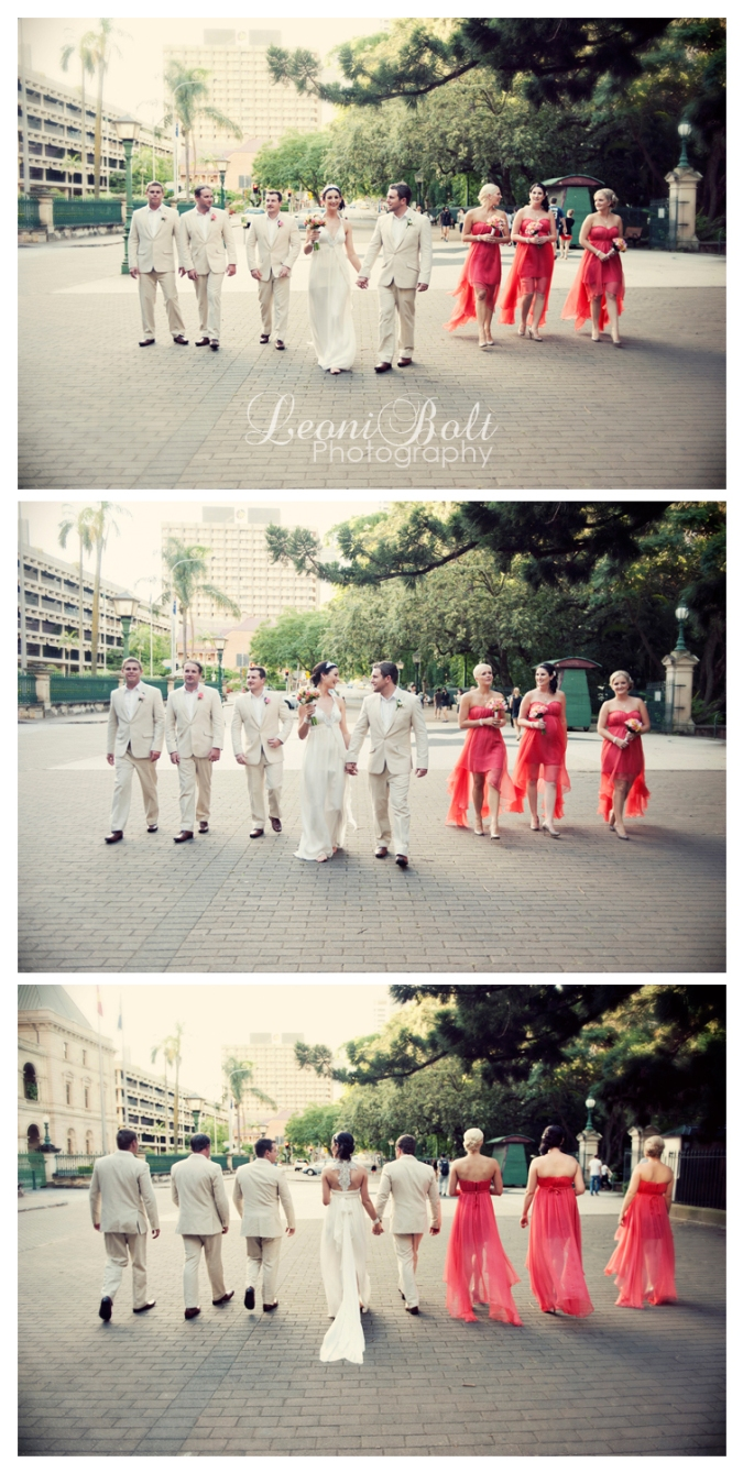 bridal party at QUT