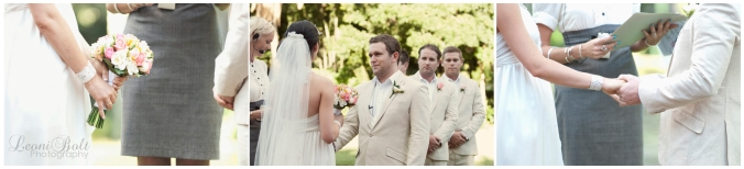 Ceremony in botanical gardens