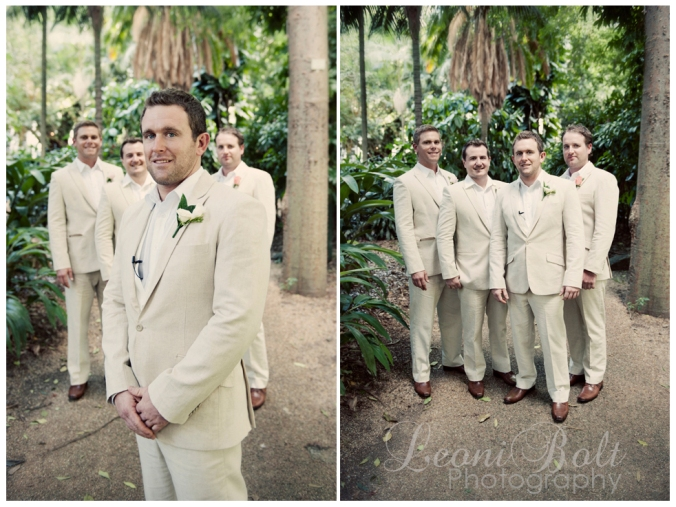 groom & groomsmen in linen suits