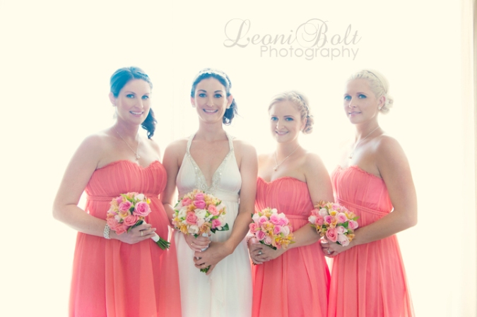 high key bridal party girls