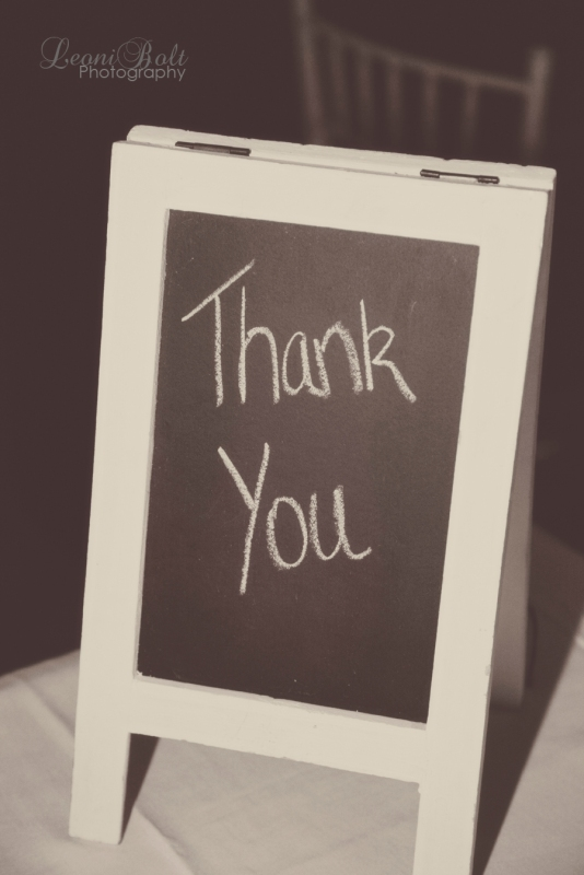blackboard with Thank you