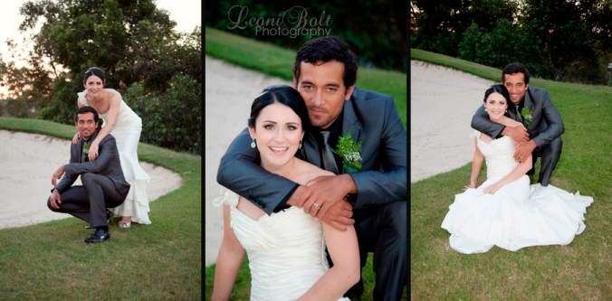 wedding couple at Victoria Park golf course