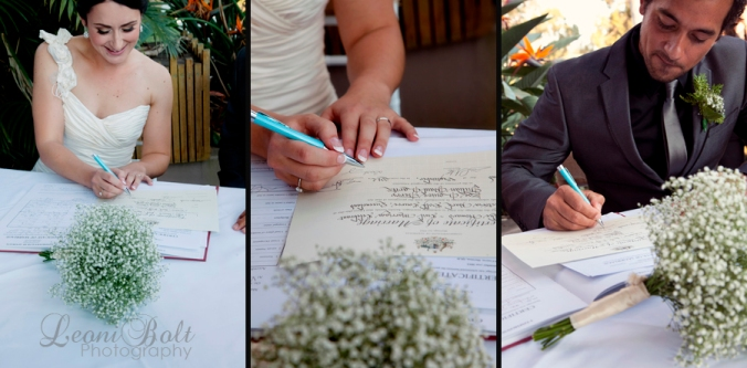 sign the marriage certificate