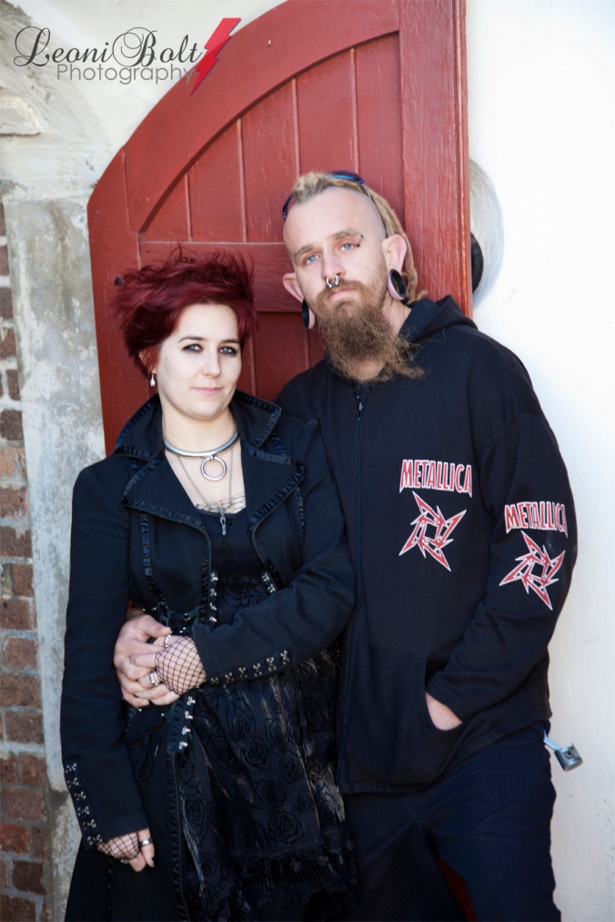 Gothic couple photo